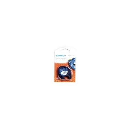 Dymo cinta rotuladora 91205 negro/azul 12mm x 4m