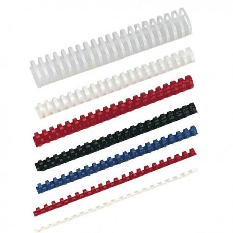 Ibico canutillos 22mm plático negro caja 100 unida