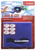 Imation etiquetas CD/DVD 25 uni.+aplicador + rotu