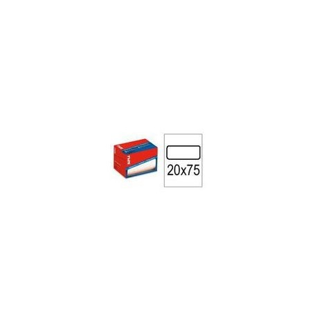 Apli etiquetas 01687 20X75 en rollo 1000u