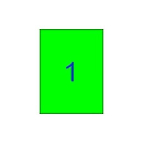 Apli etiquetas 02881 L/F/ fluorescente color verde