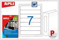 Apli etiquetas 01232 190X38 I/L/F 25H cantos romos