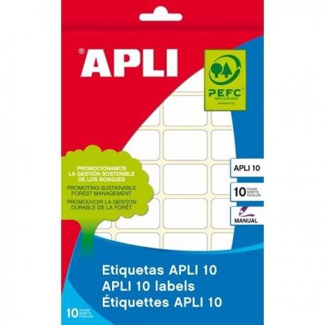 Apli etiquetas 01636 en paquete / Blanca 12 x30 10