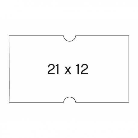 Apli etiquetas 100910 21X12 perforadas en rollo