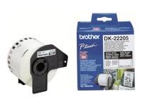 Brother etiquetas DK22205 62mmx30,48m continuo