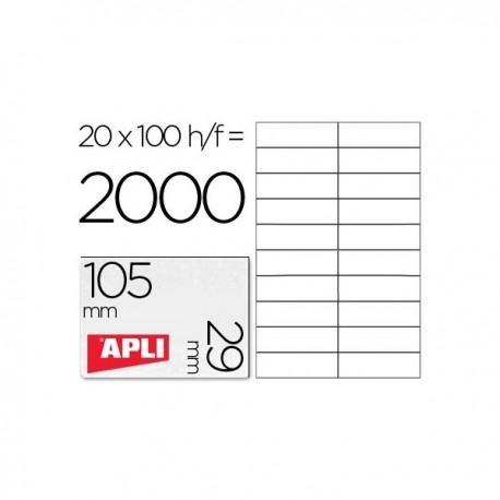 """Apli etiquetas 01299 105X29 """"Hacienda"""" 100h"""