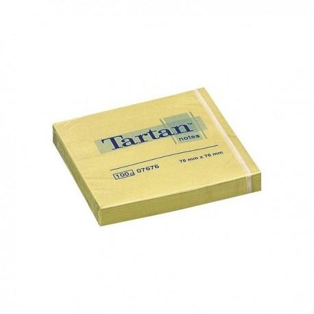3M Notas Tartan 76x76 7676 bloc 100 hojas
