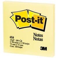 3M Post-it notas 654 76mm x 76mm amarillo