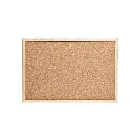 Pizarra corcho 40 cm x 30 cm con marco madera