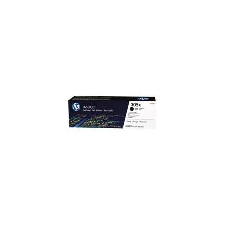 HP toner negro 305X CE410XD pack doble 4.000 págin