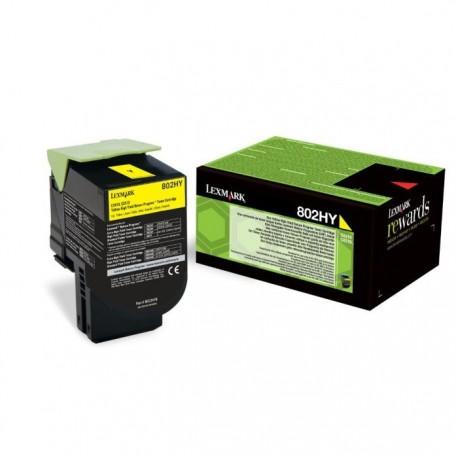 Lexmark tóner amarillo 802HY 80C2HY0 3.000 páginas