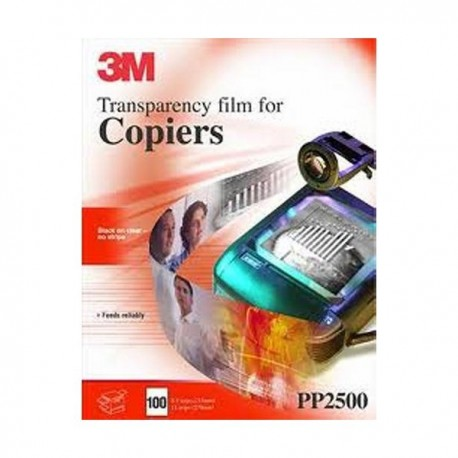 3M Transparencias PP2500 A4 Fotocopiadora 100h