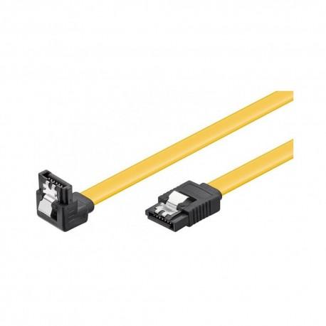 Cable datos SATA 3 (6Gbs) acodado ama. 95020 0,5 m