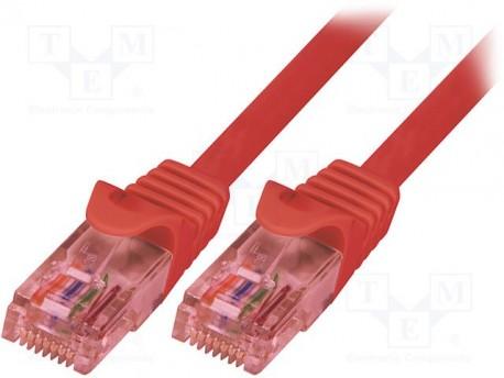 Logilink cable red RJ45 1m. Cat.6e rojo UTP cobre