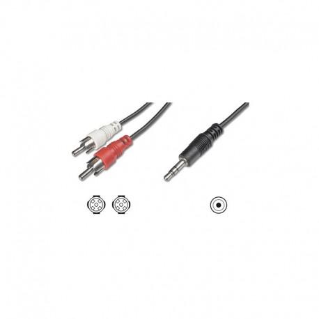 Logilink ca. audio jack 3,5 ma. - 2 RCA mach. 1,5m
