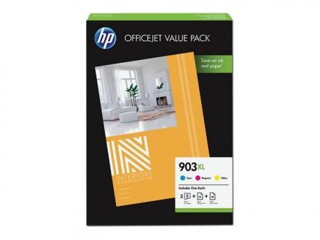 HP cartucho tinta multipack color 903XL 1CC20AE