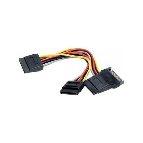 Cable alimentación disco SATA en Y - 3 conectores