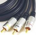 Outex cable RCA/3 macho - RCA/3 macho 5m