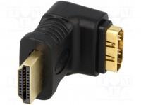 LogiLink adaptador HDMI A 19p. macho-hembra en áng