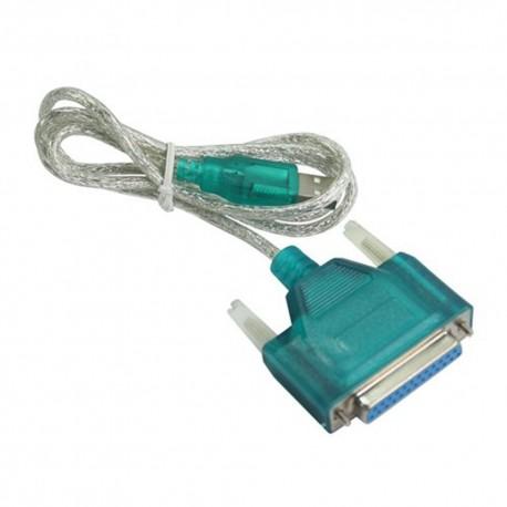 Cable USB/A macho - paralelo DB25 hembra 1.1 1,5m
