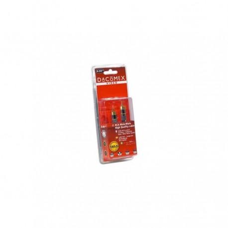 Dacomex cable audio RCA/1 macho - RCA/1 macho Golg