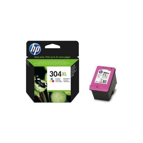 HP cartucho tinta tricolor 304XL N9K07AE 300 pág.