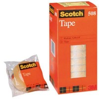 3M Cinta adhesiva trans. Scotch 508 12mm x 33m.