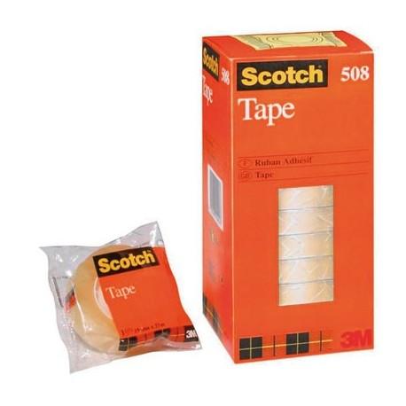 3M Cinta adhesiva trans. Scotch 508 12mm x 33m.