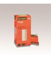 3M Cinta adhe.transparente Scotch 508 19mm x 33m.