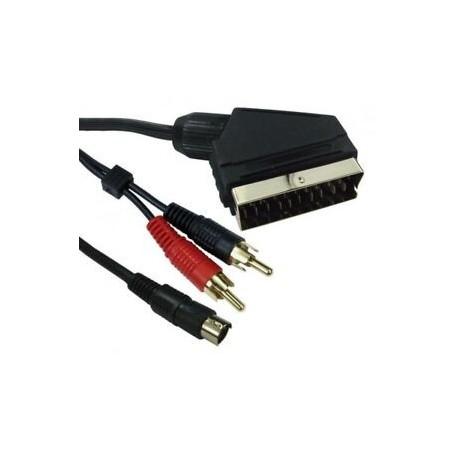 Cable euroconector Scart a 2 RCA audio + 1 S-VHS v