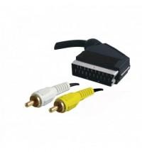 CAble euroconector Scart a 2 RCA audio y video 1,5