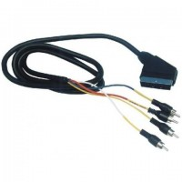 Cable euroconector Scart a 4 RCA, 2 audio in/out +