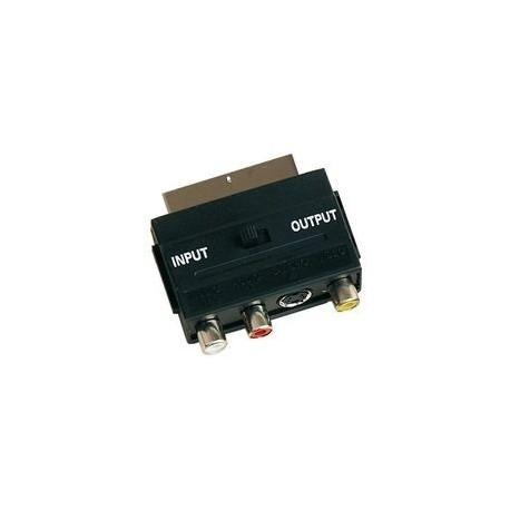 Adaptador euroconector - S-VHS - 3RCA - IN/OUT
