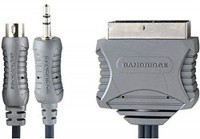 Bandridge cable S-VIDEO/jack 3,5 ST/ a SCART euro