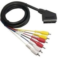 Cable euroconector a 6 RCA 1,50m 07057