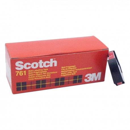 Scotch cinta rotuladora manual 761 6mm x 3m amaril