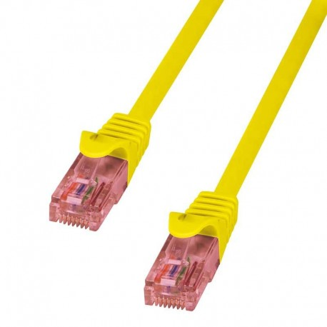 Logilink cable red RJ45 0,25m. Cat.6e amarillo UTP
