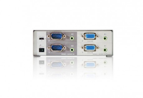 Aten Switch 2-Port video 2 inputs - 2 outputs VS02