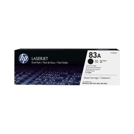 HP toner negro 83A CF283AD 1500 páginas x 2unidade
