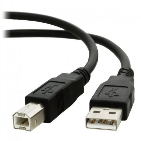 Cable USB A - USB B 1,8 metros macho-macho 2.0 Hi