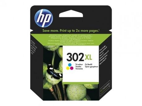 HP cartucho de tinta tricolor 302XL 330 páginas