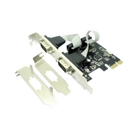 Approx! Tarjeta PCIe serie x 2 perfil alto/bajo