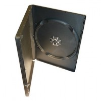 Deja caja DVD x 1 lomo 14mm, negra, 5uni.