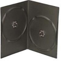 Deja caja DVD x 2 lomo 8mm, negra, 5 unidades