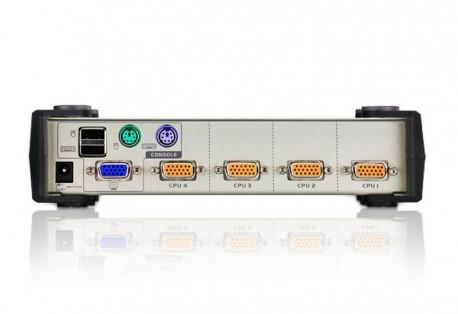 Aten KVM 4 equipos a 1 puesto USB-PS/2 (AT-CS84U-A
