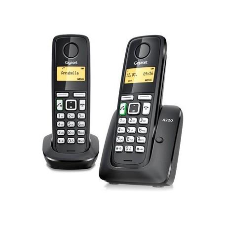 Gigaset teléfono inalámbrico A220 DUO (L36852-H241